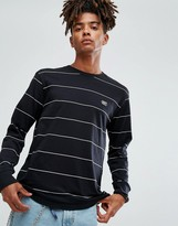 Obey Sutton Long Sleeve Striped T-shirt With Logo