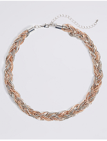 M&S Collection Ball Chain Plaited Necklace