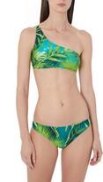 Versace Jungle Print One-Shoulder Bikini Top