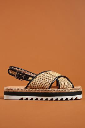 Schutz Aiyana Platform Slingback Sandals By in Black Size 6