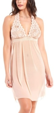 iCollection Women's Chloe Halter Babydoll Chemise Nightgown, Online Only