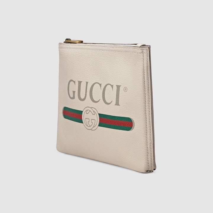 Gucci Print leather small portfolio