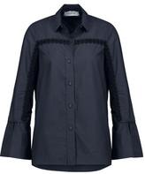 Derek Lam 10 Crosby Macramé-Trimmed Cutout Cotton-Poplin Shirt