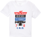 Diesel Bright White Melange Tee - Toddler & Boys
