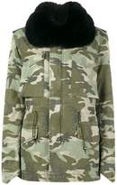 Mr & Mrs Italy trimmed camouflage midi parka
