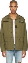 Saint Laurent Green sweet Dreams Military Jacket