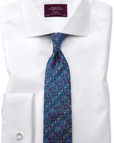Charles Tyrwhitt Extra slim fit semi-cutaway non-iron luxury white shirt