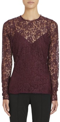 Givenchy Lace Overlay Blouse