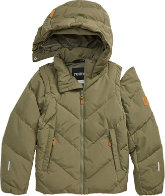 Reima Kids' Beringer 2-in-1 Down Jacket with Removable Sleeves & Hood