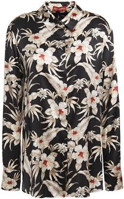 Altuzarra Floral-print Stretch-silk Satin Shirt