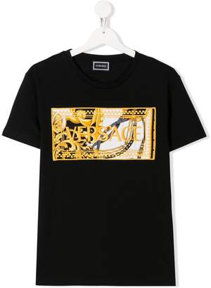 Versace TEEN baroque logo T-shirt