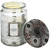 Voluspa 'Japonica - Yashioka Gardenia' Large Embossed Glass Jar Candle