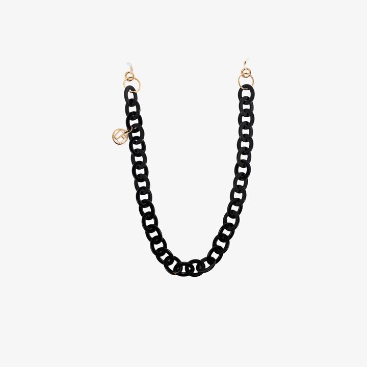 Linda Farrow Black Glasses Chain