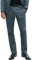 Express slim photographer dark gray cotton sateen suit pant