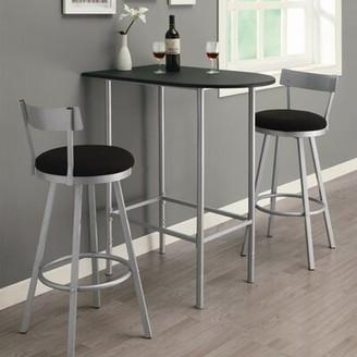 Andover Mills Esme Pub Table Base Color/ Top Color: Black with Silver Metal