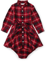 Ralph Lauren Flannel Shirtdress & Bloomer