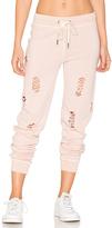 n:PHILANTHROPY Nikki Distressed Sweatpant in Pink