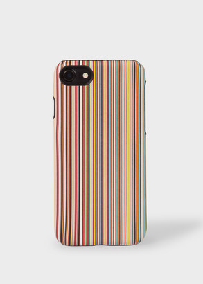 Signature Stripe Leather iPhone 7/8 Case