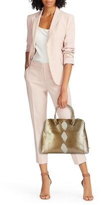 Nancy Gonzalez Medium Wallis Sequined Python Top Handle Bag