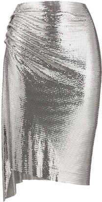 Paco Rabanne Chainmail Ruched Skirt