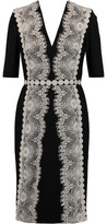 Catherine Deane Lace-Appliquéd Jersey Dress
