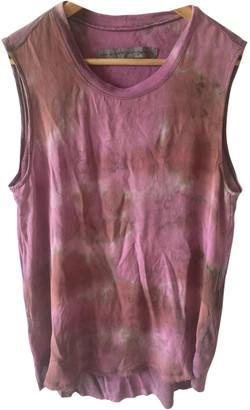 Raquel Allegra Pink Silk Tops