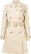 MICHAEL Michael Kors short trench coat - women - Cotton/Polyester/Spandex/Elastane - S