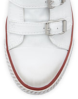 Ash Genialbis Buckled Wedge Sneaker, White