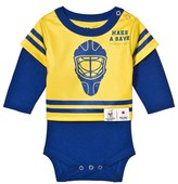 The BRAND Make A Save Yellow and Blue Long Sleeve Onesie