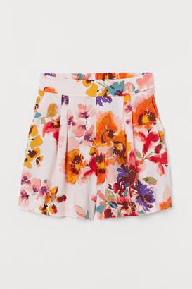 H&M Shorts High Waist - Pink