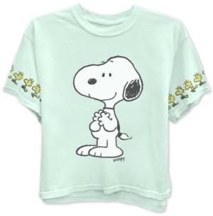 Freeze 24-7 Juniors' Peanuts Snoopy & Woodstock Graphic T-Shirt