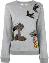 Valentino island patch sweatshirt - women - Silk/Cotton/Polyamide/Viscose - XS