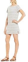 Billabong Down Time Striped T-Back Knit T-Shirt Dress