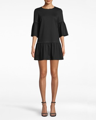 Nicole Miller Ponte Nailhead T-shirt Dress