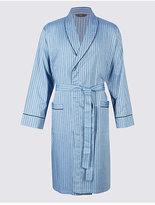 M&S Collection Pure Cotton Herringbone Stripe Gown