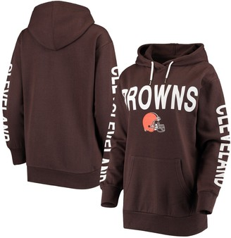 G Iii Women's G-III 4Her by Carl Banks Brown Cleveland Browns Extra Point Pullover Hoodie