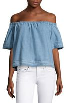 AG Jeans Sylvia Off-The-Shoulder Chambray Top