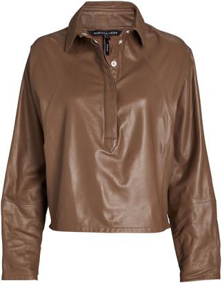 Marissa Webb Madi Leather Tunic Top