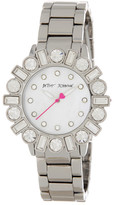 Betsey Johnson Women's Geometric Baguette Crystal Accented Watch