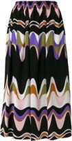 Emilio Pucci wave print skirt