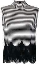 Marc Jacobs sleeveless striped fringe top