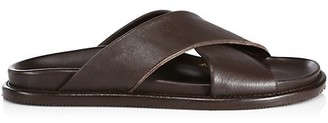 Paul Stuart Punta Leather Cross-Strap Sandals