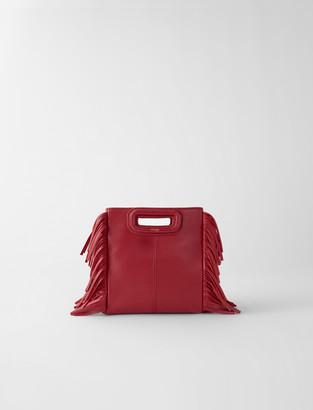 Maje Leather Mini M bag with chain