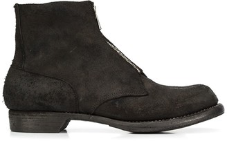 Guidi front zip ankle boots