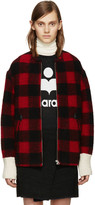 Etoile Isabel Marant Black and Red Fimo Jacket