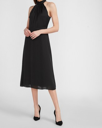 Express Halter Neck Midi Dress