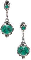 Artisan Emerald & 2.80 Total Ct. Diamond Dangle Earrings