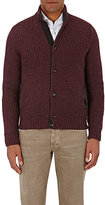 Luciano Barbera MEN'S BUTTON-FRONT SWEATER-RED SIZE M