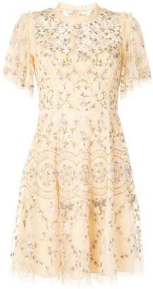 Needle & Thread Floral Lace Short Dress