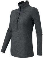 New Balance Women's Impact Ruched Half-Zip Running Top